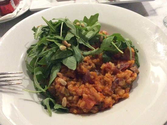 Uppingham, UK: Veggie risotto