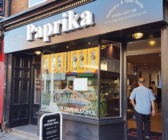 Графство Нортгемптоншир, UK: Paprika resturant frontage