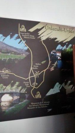 Urdazubi-Urdax, Spania: Map on a wall depicting the area