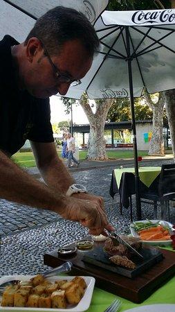 Restaurante O Violino: Fillet cooked on HOT stone_large.jpg