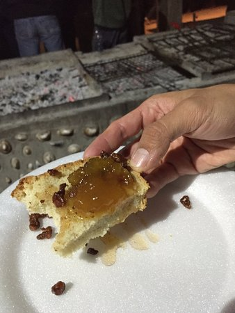 Lamberts Bay, Sydafrika: Bread, home made fig jam and lamb fat