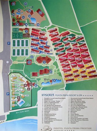 Map of the resort Picture of Insotel Punta Prima Resort Spa