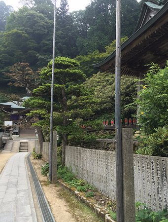 Saijo, Japón: 本堂から大師堂を望む