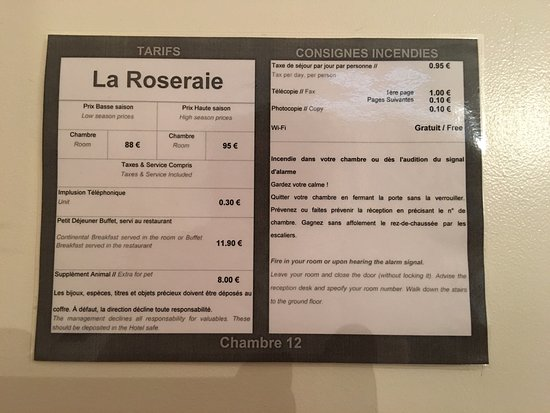 Hotel la Roseraie: Could clearly use some renovation! Looks quite different from the photos used in their ads. We w