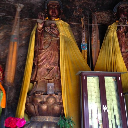 Pulandian, China: Giant sculptures inside the cave -- three storeys high