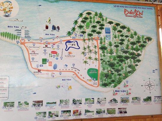 Monkey Island map Picture of Monkey Island Nha Trang TripAdvisor