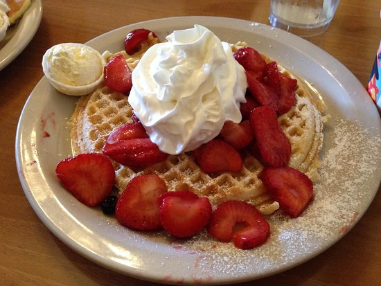 Millbrae, CA: Strawberry waffles