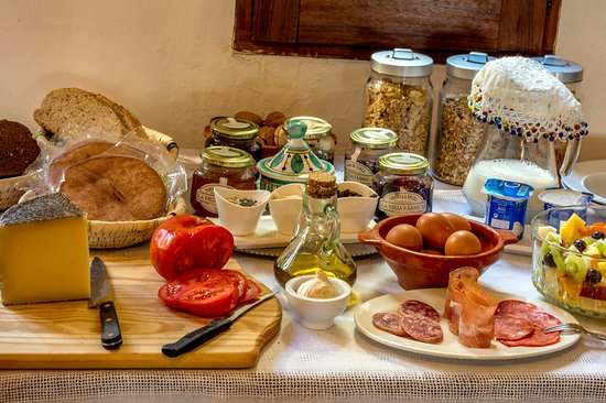 Cartajima, Hiszpania: Breakfast spread