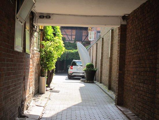 Hotel Scheffler: De flesta rum ligger på innergård. Tyst