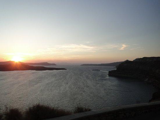 Puesta del sol en Santorini