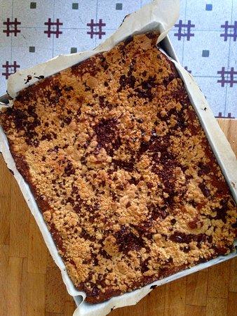 Gourmet B&B Villa Landucci: cheese cake with crumble and chocolate