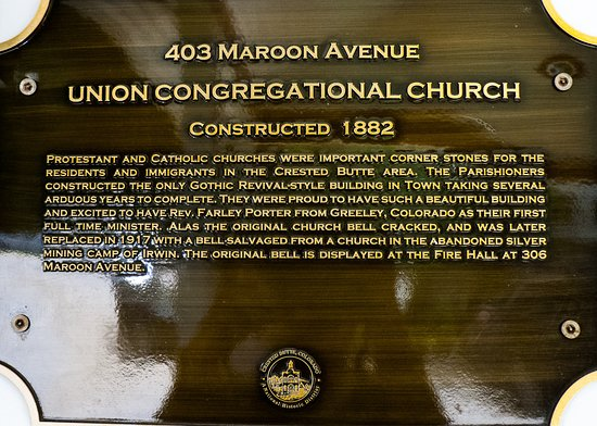 Crested Butte, CO: Union Congregational Church