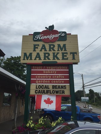 Wolfville, Canadá: Nice road side Farmers Market