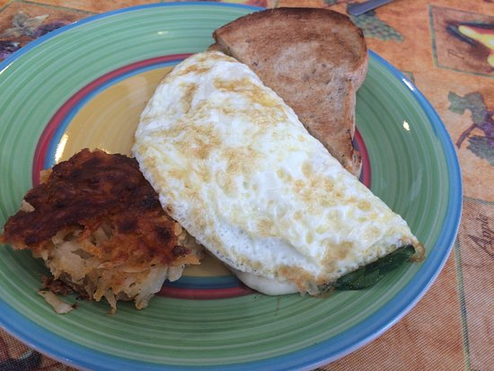 Bay City, MI: Egg white veggie omelette with hash brown bake and rye toast