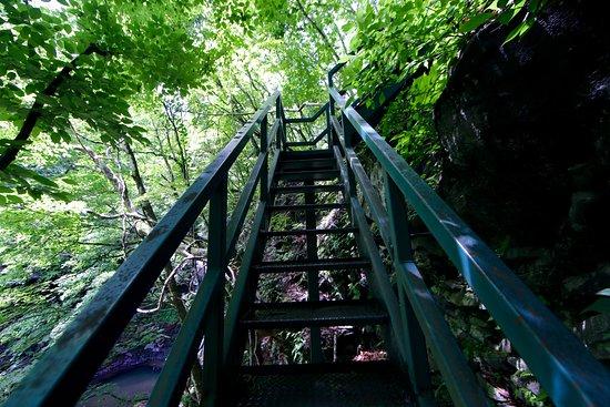 Minamimaki-mura, Japón: 千ヶ滝の鉄階段