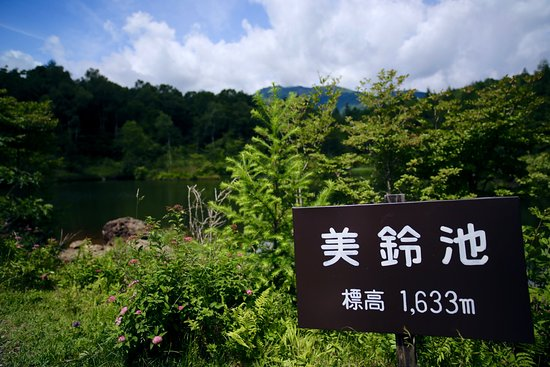 Minamimaki-mura, Japan: 美鈴湖の看板