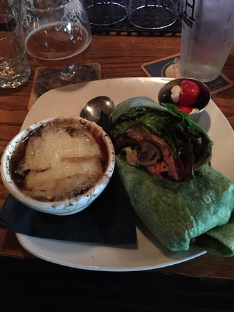 Maumee, OH: Porto Wrap, french onion soup and goat stuffed peppadews