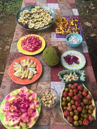 Kilauea, Hawaje: Fresh exotic fruits on the tour