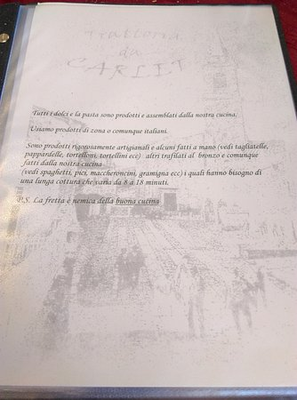 Monghidoro, إيطاليا: La philosophie Da Carlet