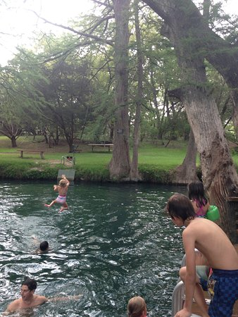 Wimberley, TX: Jumping in