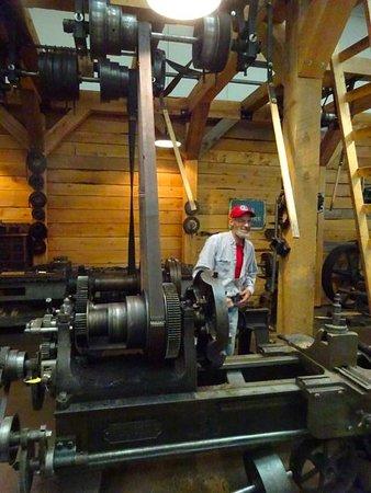 Stellarton, Canada: Demonstration of steam Power at work.