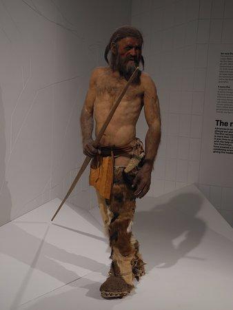 Südtiroler Archäologiemuseum : Nachbildung von Ötzi