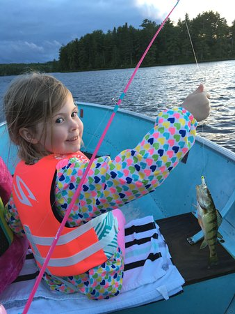 Ely, MN: Proud little girl of her catch.