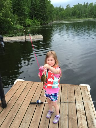 Ely, MN: Four year old's first fish!!
