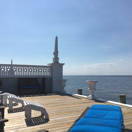 Cherry Grove, NY: Deck view of the bay