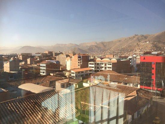 Hotel Unumizu Cusco: Udsigt fra spisesalen