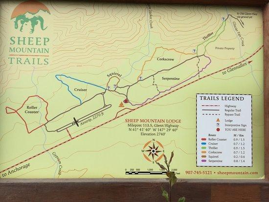 Glacier View, AK: Trail Map