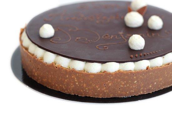 Le Bouscat, Frankrike: chocolate cake with a white chocolate marscapone cream