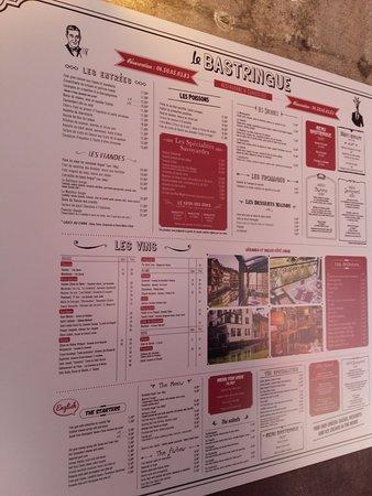 Menu et carte du bastringue picture of le bastringue annecy tripadvisor - Le bastringue annecy ...
