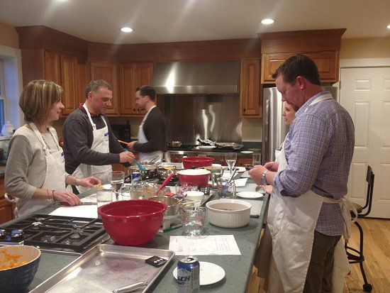 Potsdam, Nowy Jork: Friends or Lovers cooking class participants