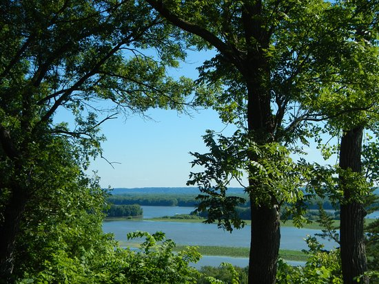 Savanna, IL: View from Lookout at end of High Point Trail