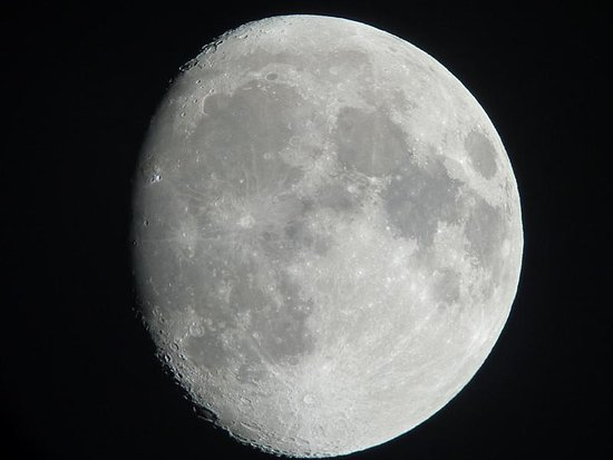 Mamalluca Observatory: Of the moon taken through the telescope in 2011.