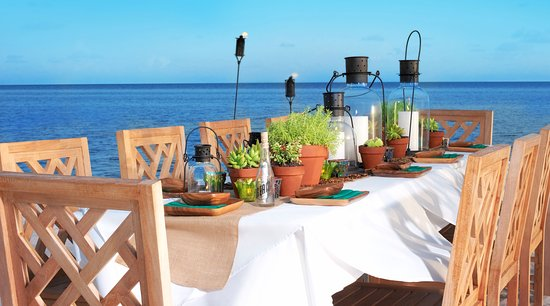 the dining room at little palm island review