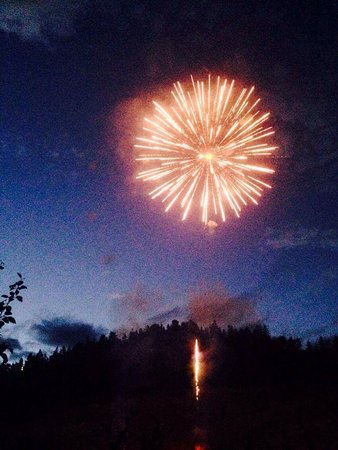 Golden Municipal Campground: Fire works for canada day