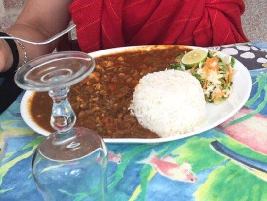 Anse Lazio, Seychelles: Octopus curry.... Lo peor que he comido