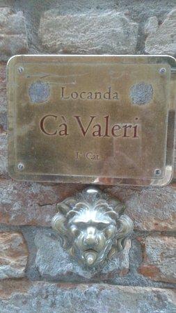 Ca' Valeri: wejście