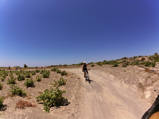 Karterádhos, Grecia: Bike riding through the vineyards