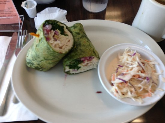 Lighthouse Point, FL: Turkey wrap and coleslaw