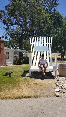 Peachy Canyon Winery : Huge chair outside!