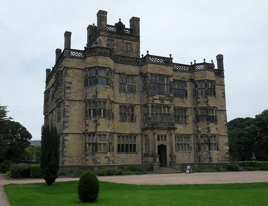 Padiham, UK: The South Front of Gawthorpe Hall