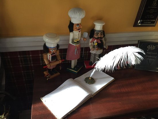 Grover, NC: guest book in the front hall
