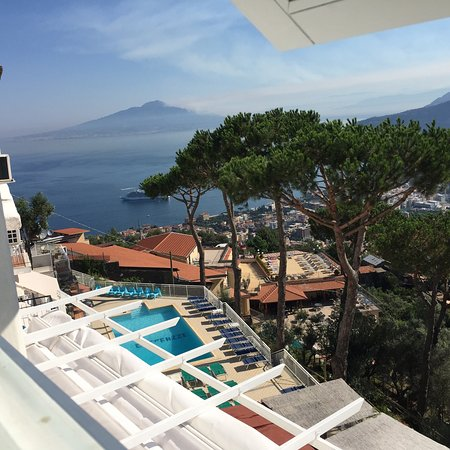 Afternoon appertivo on the terrace. Views from our room were ...