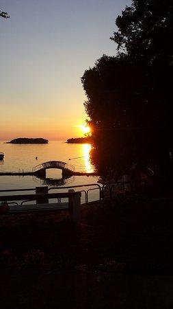 Groznjan, Chorwacja: Abendstimmung