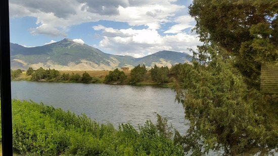 Livingston, MT: View from the back window of our fifth wheel trailer