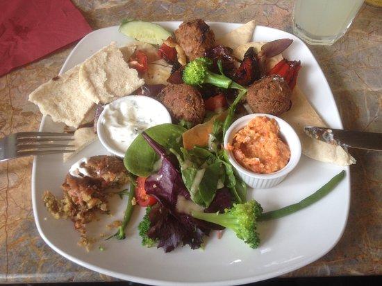 The Potting Shed Cafe: Falafel.