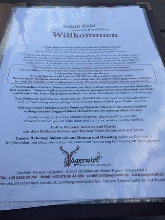 Scheffau am Wilden Kaiser, ออสเตรีย: Gasthof Pension Jägerwirt - Genuss mit Weitblick